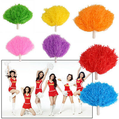 Cheerleader Pom Poms Waver Fancy Dress Costume Pompoms Dance Hen Party Decor UK