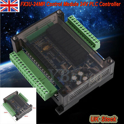FX3U-24MR  Control Module 24V PLC Programmable Logic Controller Relay +Cable UK