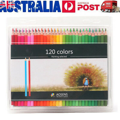 120X Assorted Oily Colored Pencil Stationery Environmental Art Painting Pencils