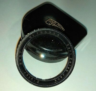 Vintage Carl Zeiss Jena Distar 3X Close-up Filter 37mm Diameter With Case