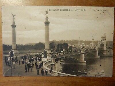 LIEGE (B)  - exposition internationale 1905  -  pont de Fragnée  -  animation