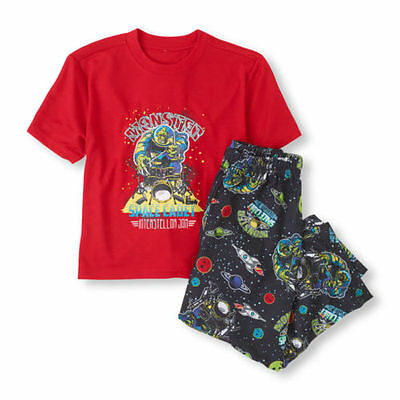 Children's Place Boys MONSTER Space... Rockets 2~PC Sleepwear Pajama Set PJ NWT