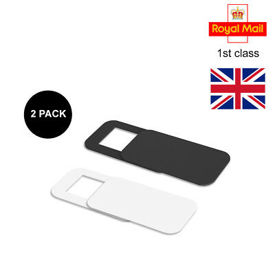 Black and White 2 in Pack Ultrathin 0.75mm Webcam Phone Cover Sticker