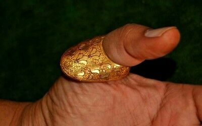 Excellent Ottoman mughal Safavid Golden Tombak archer ring archery qing dynasty