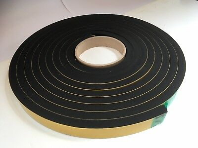 Resilient sponge rubber acoustic Sealing Tape 20mm x 10mm x 5M We manufacture