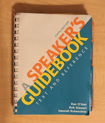 a speaker s guidebook by dan o hair 19 95 picclick rh picclick com Out of Many Fifth Edition a speaker's guidebook 5th edition google books