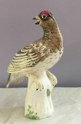Rare M Doubell Miller Crown Staffordshire White Partridge No. 16 Bird Figurine