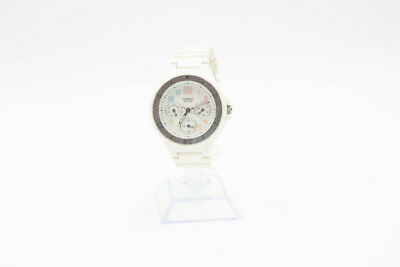 Casio Women's Classic Rainbow Numerals White Resin 34mm Watch New Battery