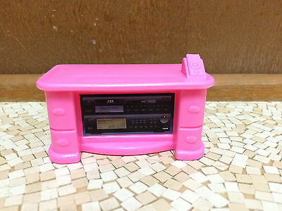 BARBIE DOLL PINK Nightstand Entertainment Center End Table Living ...