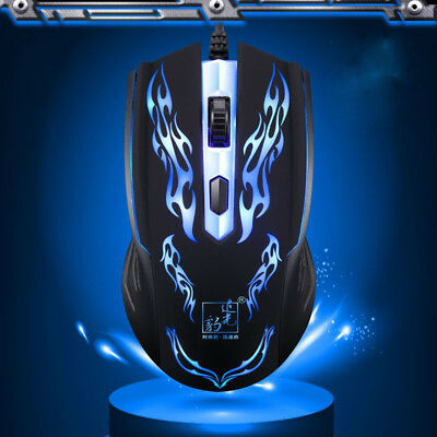 1200DPI 4Buttons Wired Gaming Mouse LED Optical Game Mouse Mice For PC Laptop