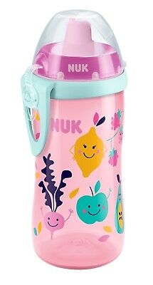 NUK Flexi Training Cup Soft Drinking Silicone Straw 300ml BPA free 18 months up