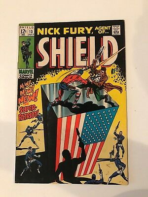 Nick Fury, Agent of SHIELD #13 (Marvel; July, 1969) - Fine+/VF