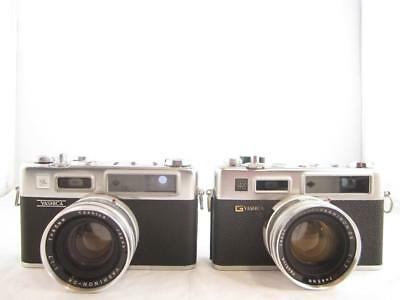 Lot Of 2 Vintage Yashica Cameras G Electro 35 & Electro 35 Untested As-Is