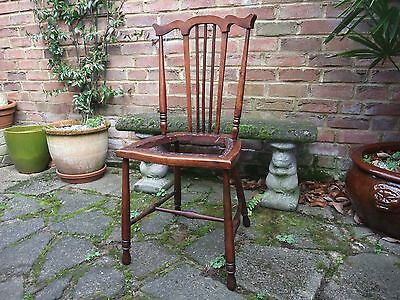 Pretty Edwardian Solid Mahogany Bedroom Chair 1900-1920 - Delivery