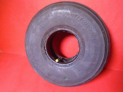 Used 5.00-5 Aircraft Tire with Tube Aero Trainer 6 Ply 120mph Fast Free Shipping