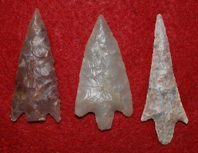 3 much better Sahara Neolithic stemmed style projectile points
