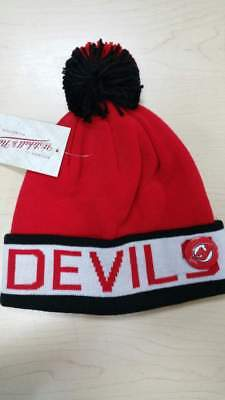 f7fc379c5c2 Mitchell   Ness NHL New Jersey Devils Cuffed Pam Knit Beanie Hat Cap with  Pin