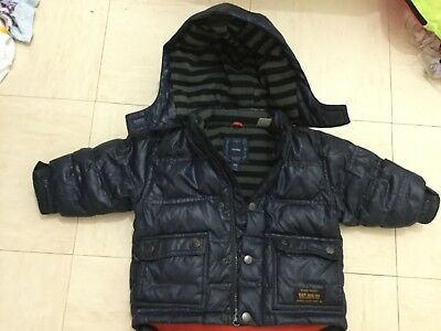 Baby Gap Puffa Puffer Coat Jacket Navy Blue Toddler Bambin 12 - 18 Months Used