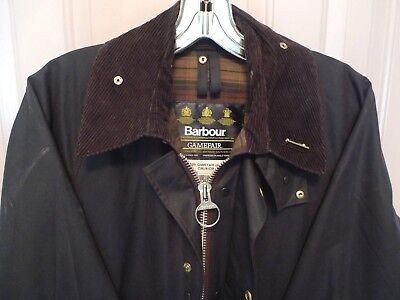 Barbour- A125 Gamefair Wax Cotton Jacket- Rustic  Brown - Made In England- 36