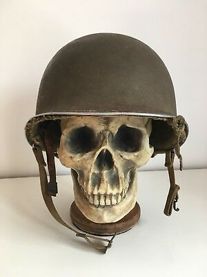 WW2 US M1 Named (ID'd set) McCord Helmet with Hawley Liner