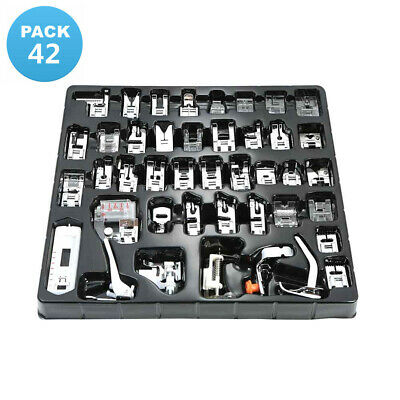 42Pcs Domestic Sewing Machine Presser Foot Feet Set for Brother Janome Singer Uj