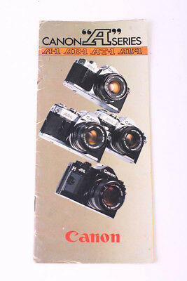 Vintage Canon A-Series A1 AT1 AE1 AV1 Guide Book Brochure Plus Lens Diagram