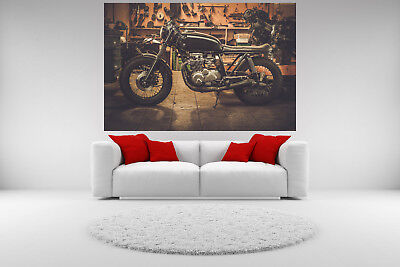 Motorcycle Canvas Vintage Giclee Print Picture Unframed Home Decor Wall Art