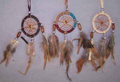 "Native Pride Tribal Handmade Dream Catchers - Diameter - 2"" 6Pc Lot (NpDc221 ^*)"
