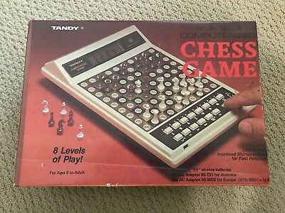 Vintage 1970's TANDY COMPUTERIZED CHESS GAME Cat. No. 60-2175