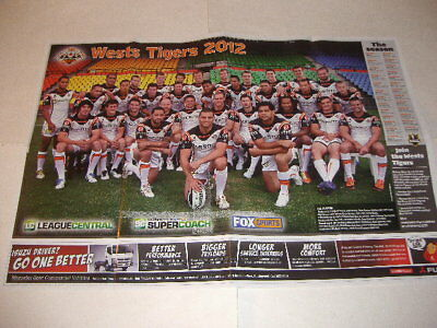 """WESTS TIGERS / MANLY SEA EAGLES 2012 Australian 2 Sided Promo Poster 33"""" x 22"""""""