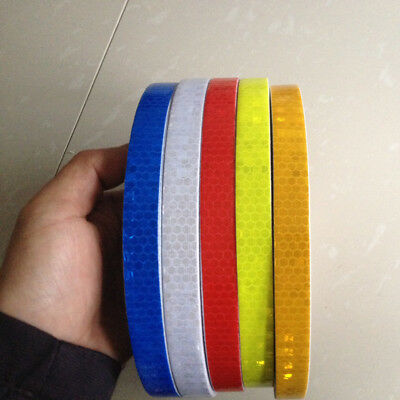 "Safety Caution Reflective Warning self adhesive Tape Sticker 15mm 0.59""Width DIY"