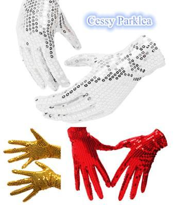 Michael Jackson Sequin Gloves Billy Jean King Of Pop Dancing Costume Accessories