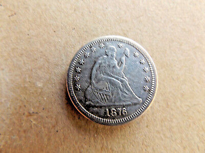 US 1876s Quarter Dollar Hard Date