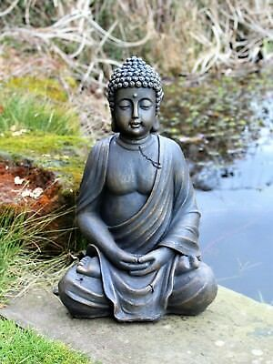 Large  Sitting Buddha Stone Effect Garden Outdoor Indoor Statue Ornament Thai