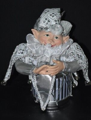 Elf Doll , Silver, Music Box