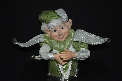 Elf Doll , Green & Silver, Music Box