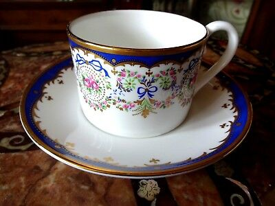 Waddesdon Manor Rothschild Collection Sevres Style Jewelled Tea Cup and Saucer