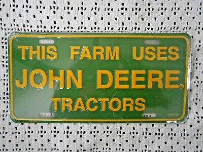 John Deere Collectible License Plate 'This Farm Uses John Deere Tractors'