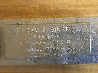 DO-IT Pyramid sinker mold Asst. Sizes.  PM-5-AB Lead  Making   Made in USA