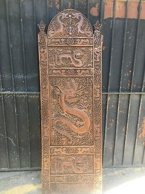 Hand Carved Wooden Chinese Panel
