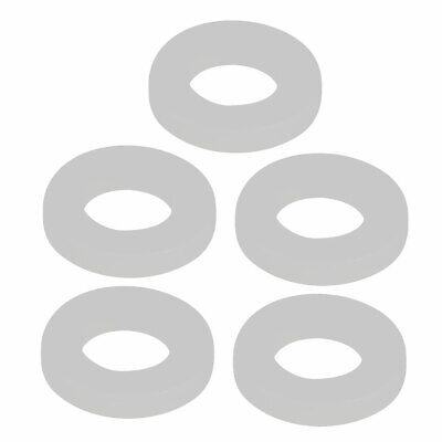 5pcs Clear Silicone Round Flat Washer Assortment Size 10x19x3mm Flat Washer