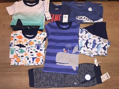 NWT $114 Boys CARTER, OSH KOSH 10-pc LOT size 3T T-shirts,Pajamas, etc ***Gr8!!