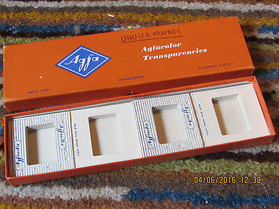 VINTAGE BOX of 20 AGFACOLOR PAPER SLIDES NEW - FULL BOX MINT CONDITION