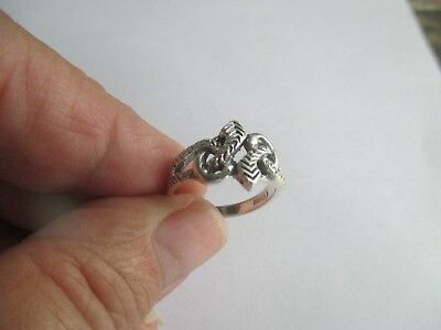 Snake Ring..two snakes..STERLING SILVER ..Great Detail..New