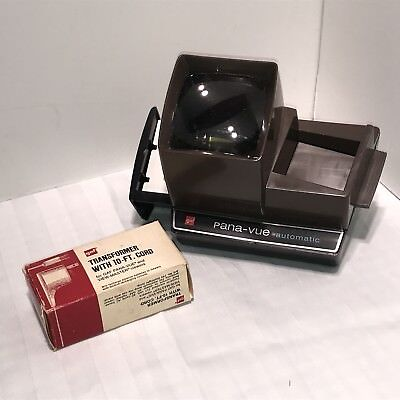 Vintage Working PANA-VUE AUTOMATIC LIGHTED SLIDE VIEWER W/TRANSFORMER