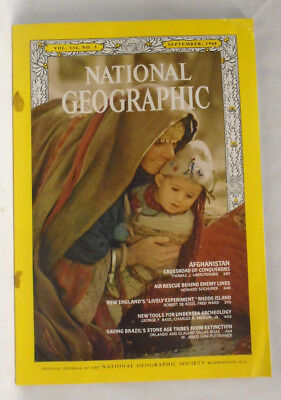 National Geographic magazine September 1968 Afghanistan Air rescue Rhode Brazil