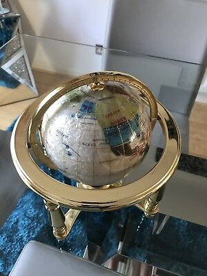 White Lapis World Globe