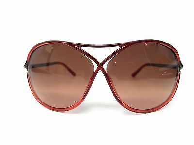 New Tom Ford Tf 184 50F Vicky Red Gradient Authentic Sunglasses W/case 65-10