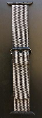 NO Box & New Original Apple Watch BLACK Woven Nylon Band 42mm