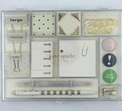 Kate Spade New York Office Tackle Box Set with Desk Supplies